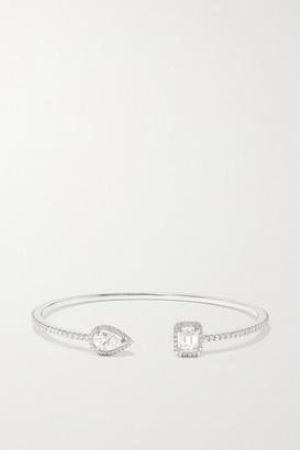 Messika My Twin Skinny Toi & Moi 18-karat White Gold Diamond Cuff