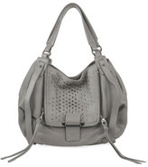 Kooba Jonnie Studded Leather Tote Bag, French Gray