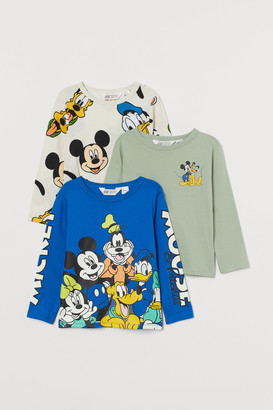 H&M 3-pack Printed Jersey Shirts