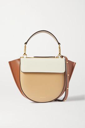 Wandler Hortensia Mini Color-block Leather Shoulder Bag - Beige