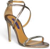 Ralph Lauren Blasia Metallic Leather Sandal