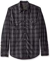 True Grit Men's Sueded Checks Long Sleeve Two Pocket Shirt