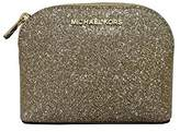 Michael Kors Glitter Leather Medium Cosmetic Case Travel Pouch