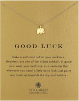 "Dogeared Reminder ""Good Luck"" -Plated Sterling Silver Elephant Pendant Necklace, 16"""