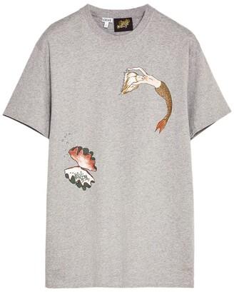 Loewe x Paula's Ibiza Mermaid Print Logo T-Shirt