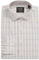 Nordstrom Trim Fit Non-Iron Tattersall Plaid Dress Shirt