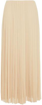 The Row Sulu Pleated Georgette Midi Skirt