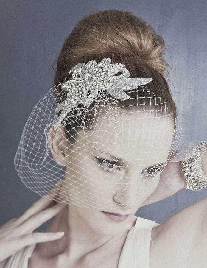 Carlisle Debbie Vivien Diamante Abstract Leaf Wedding Comb