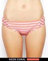 Bikini Lab I Just Wanna See You Stripe Bow Cheeky Bikini Bottoms
