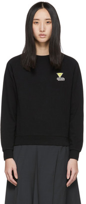 MAISON KITSUNÉ Black Smiley Fox Sweatshirt