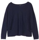 Eileen Fisher Women's Organic Linen & Cotton Knit Boxy Top