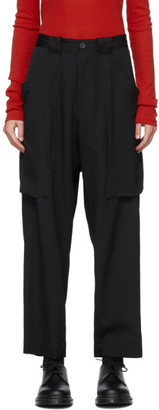 Yohji Yamamoto Black Gore Big Pocket Trousers