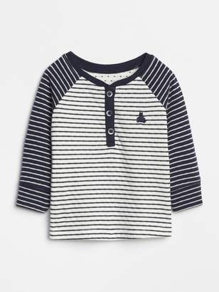 Gap Baby Brannan Bear Henley T-Shirt