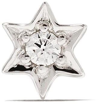 Sydney Evan 14kt White Gold Star Diamond Stud