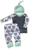 Aliven Infant Baby Kids Boys Girls Autumn Warm Clothes Tops+ Pants+ Hat Outfit Set 3Pcs