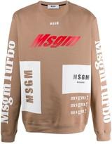 MSGM turbo logo print sweater