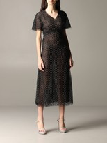 Ermanno Scervino Dress Lace Dress With Rhinestones