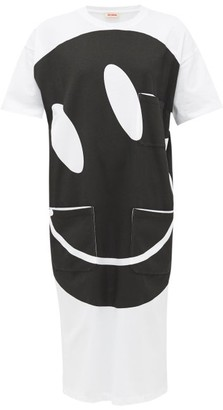 Raf Simons Smiley-print Cotton T-shirt Dress - White