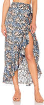 House Of Harlow X REVOLVE Clementine Skirt in Blue. - size L (also in M,S,XL,XS)