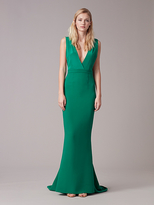 Diane von Furstenberg Deep V Tailored Gown
