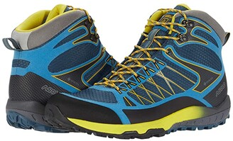 Asolo Grid Mid GV (Indian Teal Yellow) Men's Shoes