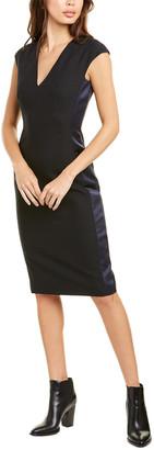 Les Copains Crepe Wool-Blend Sheath Dress