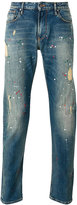 Armani Jeans distressed paint splatter jeans - men - Cotton/Spandex/Elastane - 29