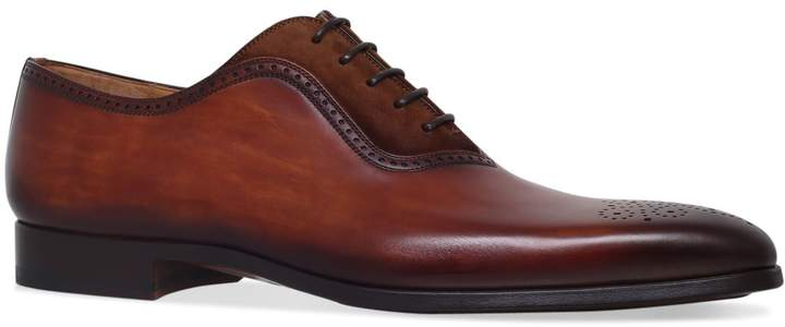 Magnanni Leather and Suede Oxford Brogues