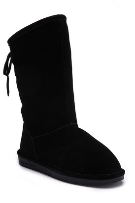 BearPaw Phylly Genuine Sheepskin Footbed Ghillie Lace Boot