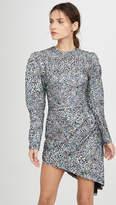 Sequined Velvet Leopard Mini Dress