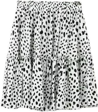 Goodnight Macaroon 'Jodie' Leopard Frilled Layered Mini Skirt