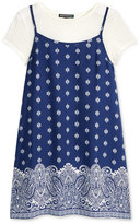 Sequin Hearts Slip Dress & T-Shirt, Big Girls (7-16)