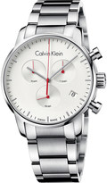 Calvin Klein City stainless steel chronograph watch