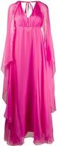 Pinko draped V-neck gown