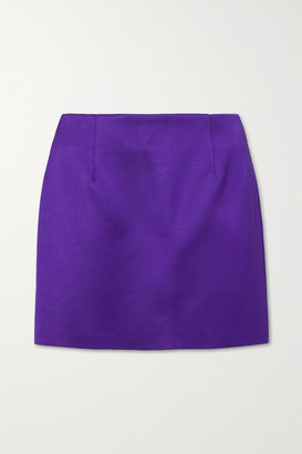 Georgia Alice Power Satin Mini Skirt - Purple