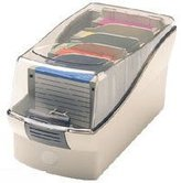 Fellowes Softworks - Media storage box - capacity: 50 diskettes - platinum