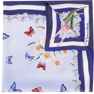 MonnaLisa Floral-Print Scarf