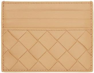 Bottega Veneta Tan Intrecciato Card Holder