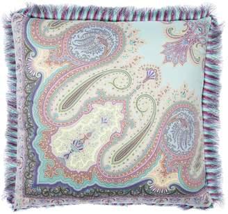 Etro Aigues Printed Cotton Pillow
