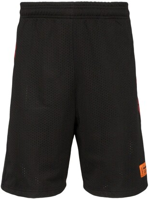 Heron Preston Loose Fit Knee-Length Track Shorts