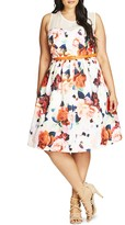 City Chic Floral Fever Dress