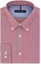 Tommy Hilfiger Men's Slim-Fit Non-Iron Big and Tall Red Check Dress Shirt