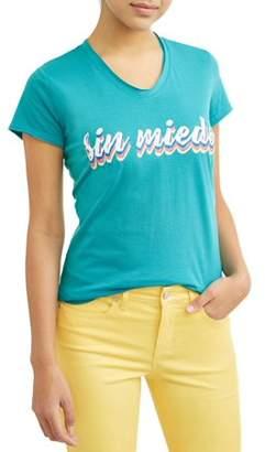 Sofia Jeans By Sofia Vergara Sin Miedo Short Sleeve V-Neck Graphic T-Shirt Women's