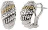 Effy Jewelry Effy 925 Sterling Silver and 18K Gold Diamond Earrings