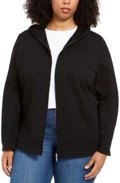 Karen Scott Plus Size Zip-Up Hoodie, Created for Macy's