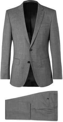 HUGO BOSS Grey Huge/genius Slim-Fit Virgin Wool Suit