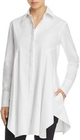 Donna Karan Stretch-Cotton Long Shirt