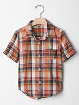 Gap Plaid madras shirt