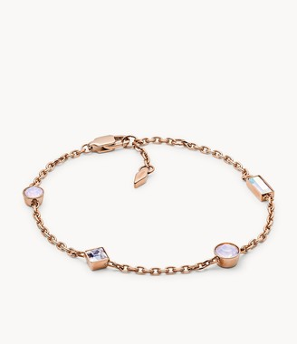 Fossil Heritage Shapes Rose Gold-Tone Stainless Steel Bracelet jewelry JOF00479791