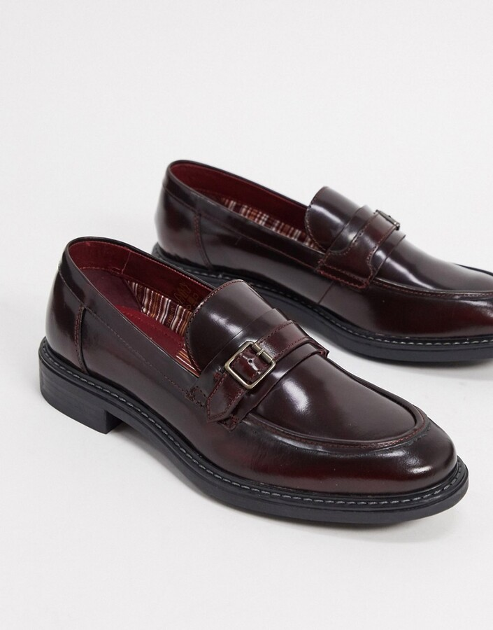 Base London Men Tan Leather /'Attwood/' Loafers